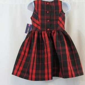 Cherokee Dresses - Adorable red and black plaid dress size 4T